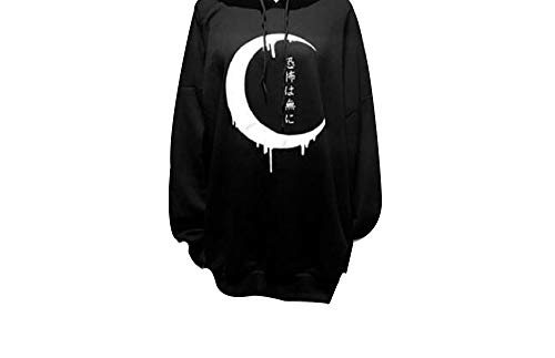 SuperCimi Damen Gothic Punk Mode Print Langarm Hoodies Plus Size Sweatshirt ()
