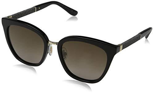 Jimmy Choo Damen GIORGY/S 9C D28 57 Sonnenbrille, Schwarz (Shiny Black/Dark Grey Sf),