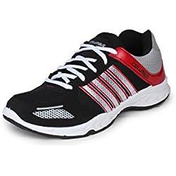 Columbus Men Black Red Sports Shoes (9 UK)