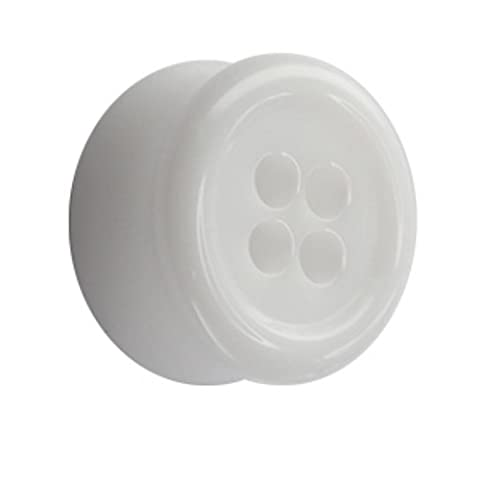 Classic Plug - Knopf - Weiß 10 mm (Acht Knoten-knopf)