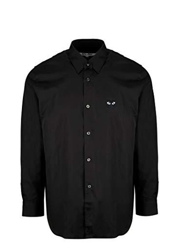 COMME DES GARÇONS Hombre P1b004black1 Negro Algodon Camisa 704124961d76