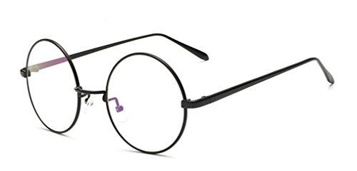 DAUCO Vintage Pilotenbrille Metallrahmen Fensterglas Brille Ohne Stärke Durchsichtig Nerdbrille...