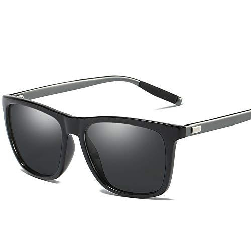 Gläser Sonnenbrillen Polarized Lens Sports Sonnenbrillen Full Set Unisex Brillen (Color : Dark Sliver)