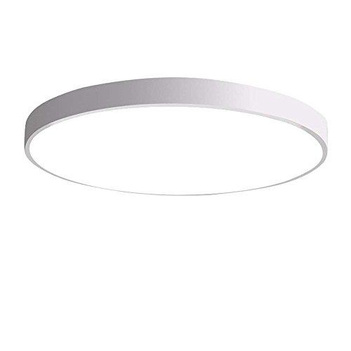 NOCHX LED Deckenleuchte Deckenlampe Ultraslim Rund Deckenbeleuchtung Wohnraum Badlampe Esszimmer Lampe schön Mordern Panel Energiespar Decken Modern Dekor, weiß, 60cm stufenlos dimmen