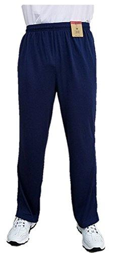 Reebok Men's Athletic Mesh Pants (XL, Navy/Grey) -