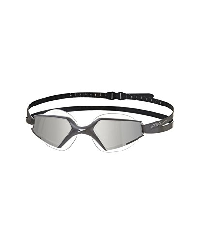 Speedo Unisex Schwimmbrille Aquapulse Max 2 Mirror, black/silver, one size, 8-097957485