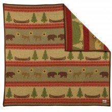 Old Hickory Wolle Überwurf Decke von Pendleton 62x68 inch Braun