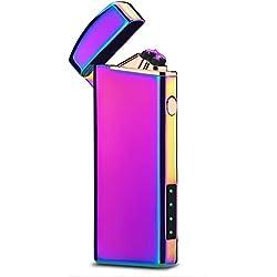 Longzhuo Briquet électronique à Double Arc USB pour Homme et Femme