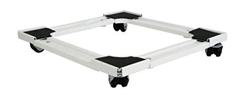 bcalpe 800032–Halterung Kühlschrank quadratisch, ausziehbar, weiß und schwarz
