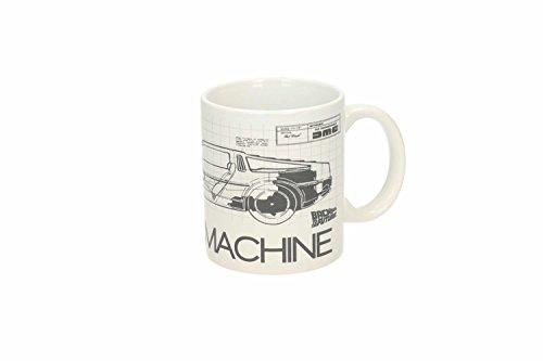 SD Toys–Mug Retour vers Le Futur–Plan Delorean Time Machine–8435450200755