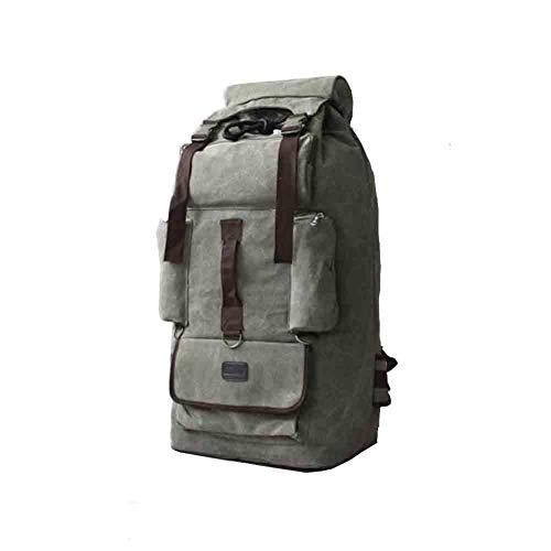 MYXMY 110L super große Kapazität Dicke Leinwand Outdoor Wandern Freizeit Gepäck Zelt Rucksack männlich Reise Quilt Umzugstasche (Color : D)