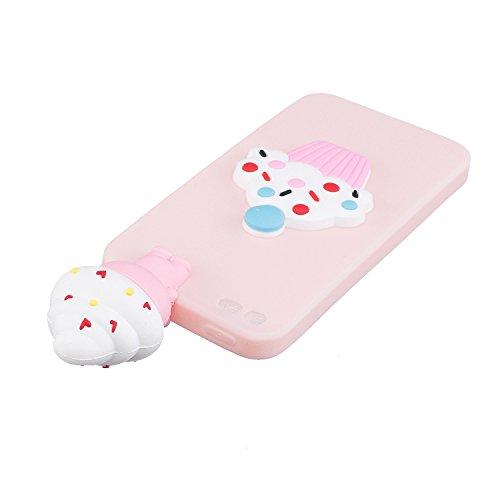 Copertura morbida del silicone TPU Per iPhone 5 5S SE 4 ,Funyye Bello 3D Bambola Ornamento Modello Brillantini Glitter Morbido Sottile Chiaro Leggero Gel Protettiva Case Flessibile Dolce bello Carino rosso