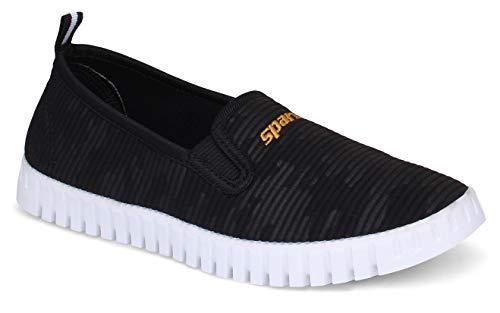 Sparx Women SL-113 Black White Casual Shoes