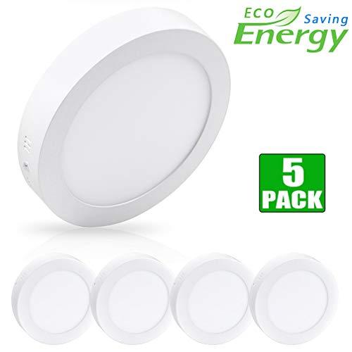 Lámpara de techo LED W-LITE para salón, dormitorio, habitación de los niños, pasillo, balcón, 18w-round-5 Stück-neu, (18W) EU