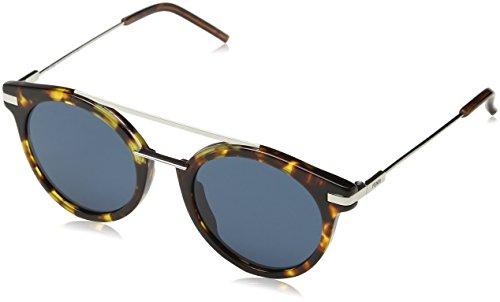 Fendi ff 0225/s ku 9g0, occhiali da sole uomo, marrone (havana pall/bluette avio), 49