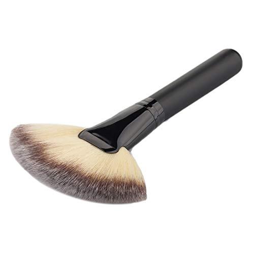 Demarkt Fan Make up Brush Fächerpinsel Pinsel Make up Fan Blush Gesichtspuder Foundation Kosmetik Pinsel Kosmetikpinsel Fächerpinsel