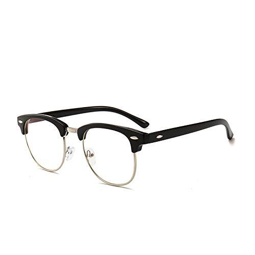 Blaues Licht, das Glassesm Anti-UV transparente Linse blockiert Spieler- und Computerbrillen für tiefen Schlaf Digital Eye Strain Prevention Stylish für Männer/Frauen-gold