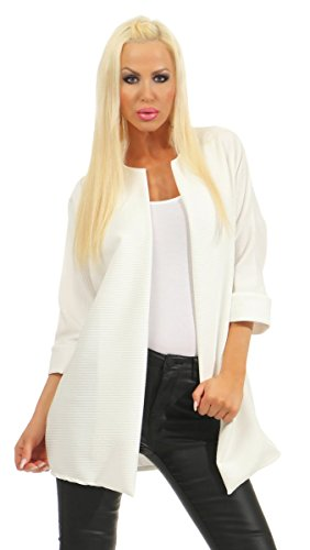 Fashion4Young - Boléro - Femme Noir noir 36 Weiß