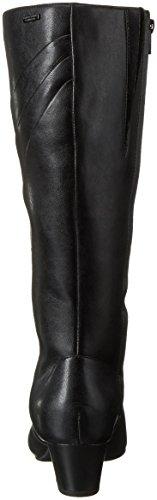 Rockport Total Motion Charisse Cresenthia Pleated T-Bottes Haute  femme Noir - Schwarz (Black Lthr WP)