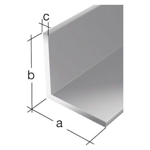 Preisvergleich Produktbild Generic YC-AMD2-151221-130 10x2mmprofill Alu Aluminiumprofill Aluminium Alu- Winkel Aluminium-Winkel Winkelprofil 1M / 10x2mm Aluminium W