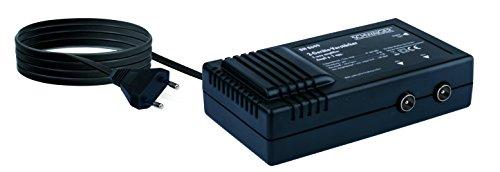 Schwaiger BN8699 Zweigeräteverstärker (2X 18 dB) für Anschluss 2-Fernsehen auf Antennensteckdose schwarz
