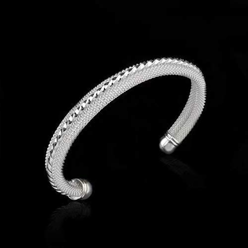 Bobopai Waymeduo Knot Mesh Bangle Bracelet Solid Sterling Silver 925 Plated (#Style.2) -