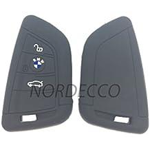 Funda protectora para llavero de coche, de silicona, compatible con BMW Serie 2 X1, X5, X6, F15, F22, F45, F46 de 2014, 2015 y 2016, y para Serie 7 de 2017.