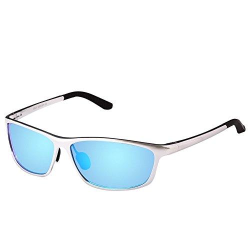 DUCO Herren Sport-Art polarisierte Sonnenbrille Treiber Brille CAT 3 CE 2179S (Blau)