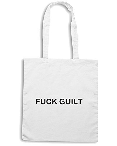 T-Shirtshock - Borsa Shopping TDM00079 fck guilt Bianco