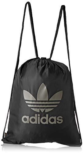 adidas Unisex-Erwachsene Gymsack Trefoil Rucksack, Mehrfarbig (Negro/Carnoc), 24x15x45 Centimeters