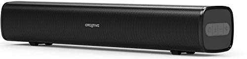 Creative Stage Air Compact Multimedia Under Monitor USB-Powered Soundbar for Computer with Dual-Driver and Passive Radiator for Big Bass, Bluetooth and AUX-in, USB MP3 (Black)