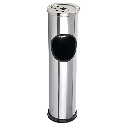 Libre de pie para exteriores polvo cubo de basura de acero inoxidable cigarrillo cenicero soporte