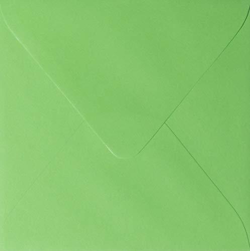15 Grüne (50 Quadratische Briefumschläge Farbe: Gras Grün 150 x 150 mm 15 x 15 cm)