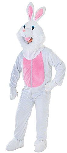 Herren Damen Weiß Ostern Kaninchen Bunny Maskottchen Tier Hirsch Hen Do Party Night Fancy Kleid Kostüm Outfit