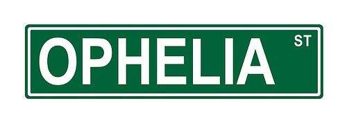 Promini Metallschild Ophelia St. Street, lustiges Scherz, Humor, Neuheit, Metallschild, 45,7 x 10,2 cm -