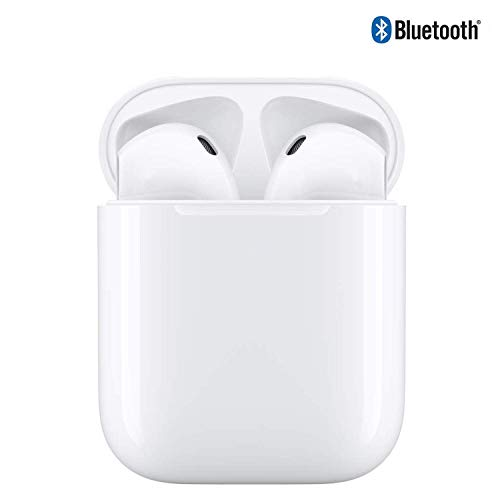 Headset Bluetooth in Ear Headphones, Double Ear Canal Call Technology, with Microphone and Charging Box,Earphones Compatible with iOS and Android Smartphones and Tablets Manos Libres Bluetooth