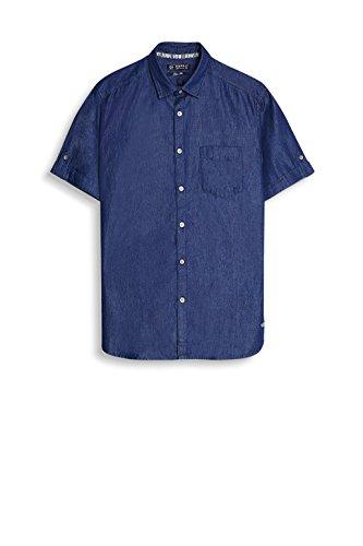Esprit 047ee2f014, Chemise Casual Homme Bleu (Blue Dark Wash)