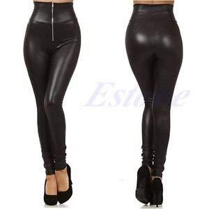 Bloomgreen Co. Marke Frau-Leder-Gamaschen Mode Zip Up Hoch-Taille elastische dünne Feste Hosen von Generic - Outdoor Shop