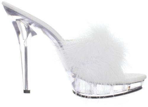Pleaser LIP-101-8 Damen Pantolette Wei