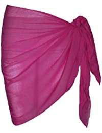 Plain Half Fuschia Cotton Sarong