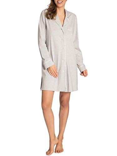 Taubert Inspiration Nachthemd durchgeknöpft, 90cm Damen calm grey melange