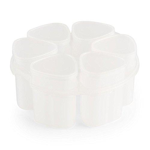 Klarstein Joghurtbereiter Joghurt-Maker Ersatzgläser für Hotpot Multi Cooker 6 Becher á 150 ml (6 Deckel, mit Einsatzring, -20 - 120°) weiß