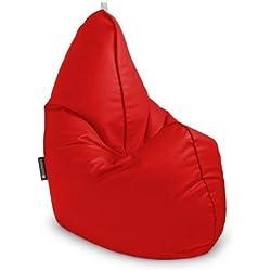 Happers pera Relax Puff Infantil, Piel Sintética, Rojo, 55X75X80Cm-Infantil