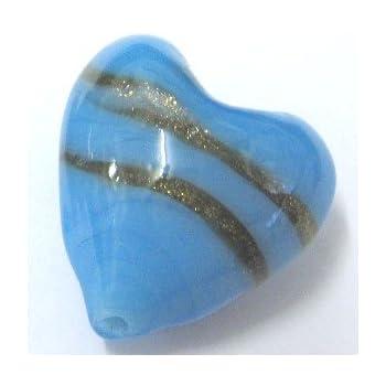 /20/mm/ 10/x Lampwork Glasperlen Herz/ /A4162//10/Perlen