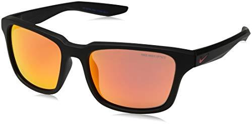 Occhiali da sole nike nike essential spree r ev1004 matte black/grey red flash unisex