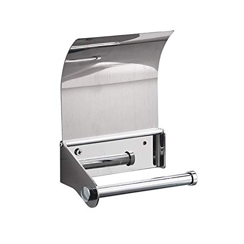 MYPNB Badezimmer Regal PunchFree Edelstahl mit Deckel Toilettenpapierhalter Badezimmer Papierhandtuchwärmer Badezimmer Wasserdicht Rollenhalter