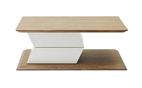 designement Tahera Table Basse MDF Blanc 98 x 70 x 36 cm