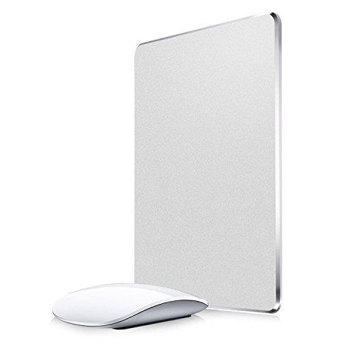 Aluminium-basis-pad (Gaming Mauspad, Nulaxy Aluminium Mouse Pad Matte W rutschfeste Gummi-Basis & Micro Sand Strahlen Aluminium wasserdichte Oberfläche für schnelle und präzise Kontrolle (Silber))