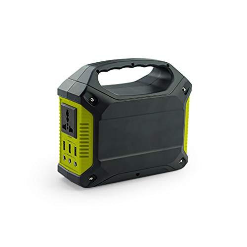 Comprajunta Power Bank Inverter Portable, 100W Leistung, 3 * 5V-2,1 A, 3 * 5,5 Mm 9-12,6 V/15A Und 1 Auslauf AC 110-240V 50/60Hz, Multifunktional Mit Generischem Stecker, Optionaler Adapter,Green 15 Amp 3-bank