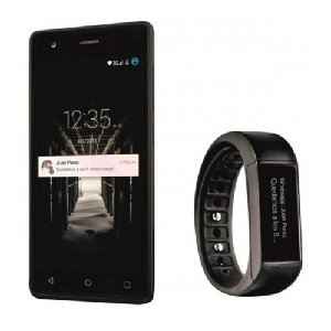 "Wolder WIAM #46 + Smartband (5"" HD IPS OGS, Quad Core, 1 GB RAM, Android 5.1 Lollipop, Dual SIM, 4G) Negro"